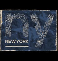 newyork city graphic design vector image