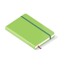 Note Book Isolated on White Background vector image