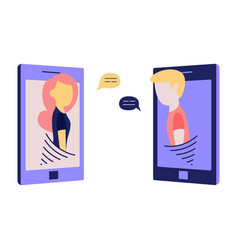 online or telephone conversation and chatting vector image