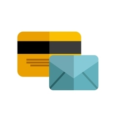 paper envelope with business icon vector image