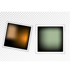 photo frame with shadow on a transparent backdrop vector image