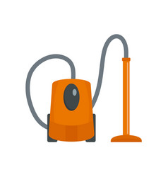 plastic vacuum cleaner icon flat style vector image