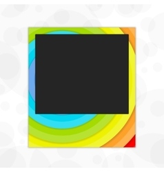 Polaroid photo frame rainbow vector image