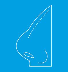 Rhinoplasty icon outline style vector