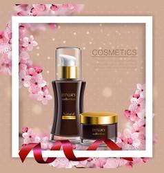 sakura colored composition vector image