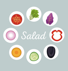 salad vegetables menu healthy image vector image