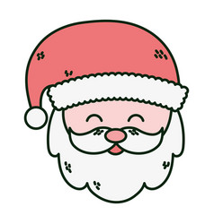 santa claus face merry christmas card vector image