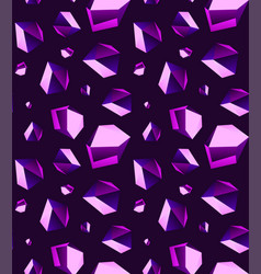Seamless background of amethyst stone crystal vector