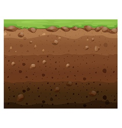 Seamless design with grass and underground vector image