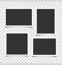 set retro realistic photo frames vector image