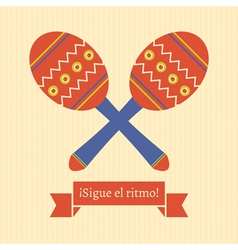 sigue el ritmo vector image