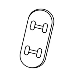 Skate board sport isolated icon vector