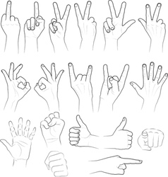 Sketch hands vector