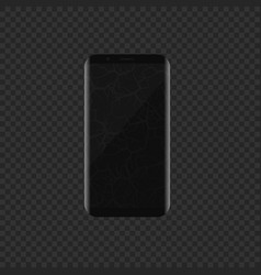 smartphone with broken display vector image