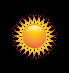 solar gradation color vector image