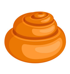 Spiral-shaped bread roll isolated on vector