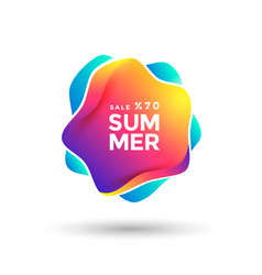 summer sale label gradient color abstract icon vector image