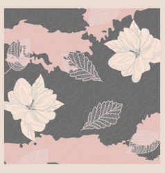 Summer scarf pattern design vector