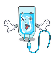 Surprised infussion bottle mascot cartoon vector