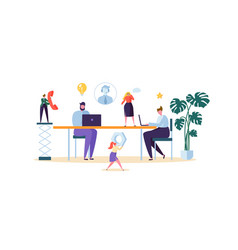 technical support customer help service concept vector image