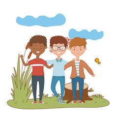 Teenage friends design vector