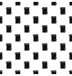 Trash bin with tilting lid pattern simple style vector