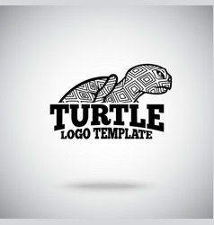 Turtle logo template for sport teams vector image