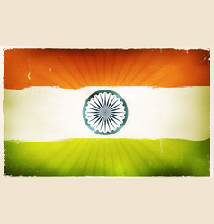 vintage india flag poster background vector image