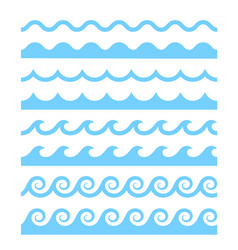 water waves patterns vector image
