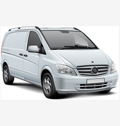 white delivery vehicle vector image