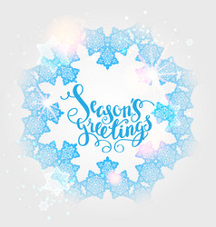 Winter snow ornament vector