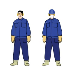Worker electrician vector