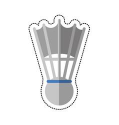 cartoon badminton shuttlecock sport vector image vector image