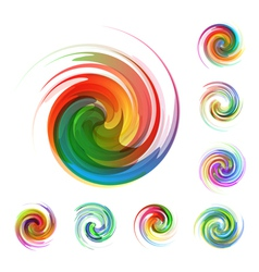 Colorful abstract icon set vector image vector image