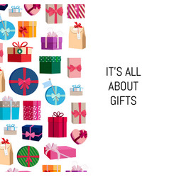 gift boxes or packages background vector image