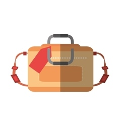 hand luggage travel bag tourist shadow vector image