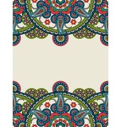 Indian paisley boho mandalas vertical frame vector image vector image