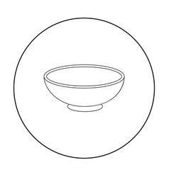 miso soup icon in outline style isolated on white vector image vector image