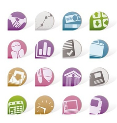 business and office objects vector image