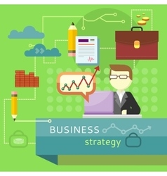 Business Strategy Performance Analysis Banner vector image