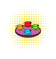 Coffee-cup carousel icon comics style vector image vector image