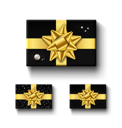 gift boxes top view isolated set template vector image