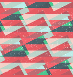 red mosaic seamless pattern with grunge effect vector image