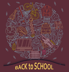 Back to school abstract background with paper cut vector