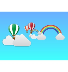 balloon journey2th vector image vector image