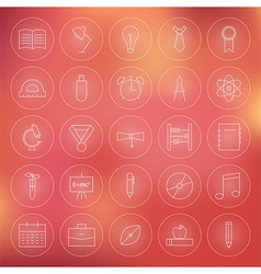 Education and Science Circle Line Icons Set vector image
