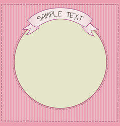 funny pink card or frame template vector image vector image