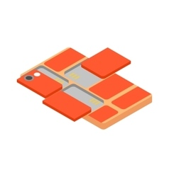 Modular smartphone icon isometric 3d style vector image
