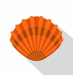 Pearl shell icon flat style vector