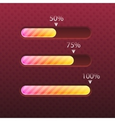 Progress bar glossy and trendy style vector image vector image